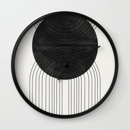 Line Art and Circle Wall Clock