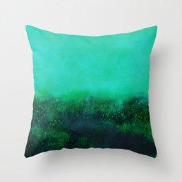"""""""The Garden"""" Digital Painting // Fine Art Print Throw Pillow"""