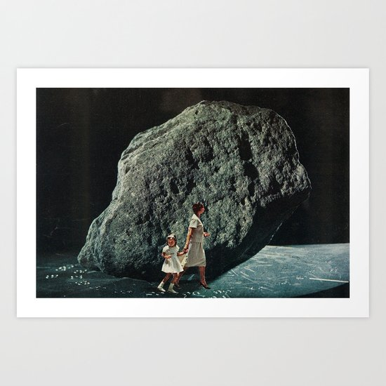 follow me into the dark Art Print