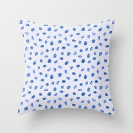 Blue vibes #3 || watercolor Throw Pillow