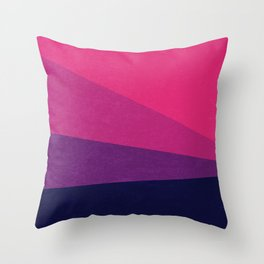 Stripe VII Ultraviolet Throw Pillow