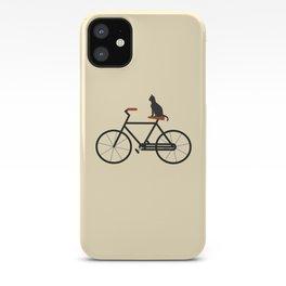 Cat Riding Bike iPhone Case