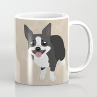 terrier Mugs featuring Boston Terrier by Sarah