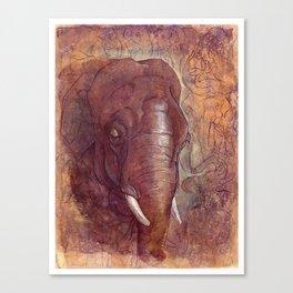 Endangered Series Elephant Canvas Print