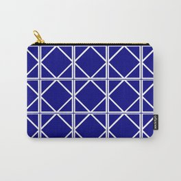 Navy Triangle Square Carry-All Pouch
