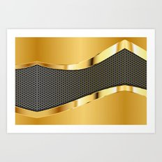 Carbon and Gold Art Print