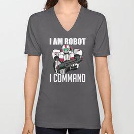 I Am Robot I Command Mechanical Tool Unisex V-Neck