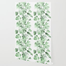 Delicate Monstera Green #society6 Wallpaper