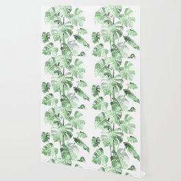 Delicate Monstera Green #society6 Wallpaper