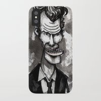 tom waits iPhone & iPod Cases featuring Tom Waits by Grant Hunter