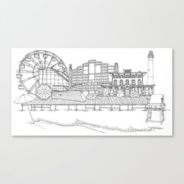The Jersey Shore by the Downtown Doodler Canvas Print
