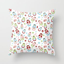 Matryoshka - Seasons Throw Pillow