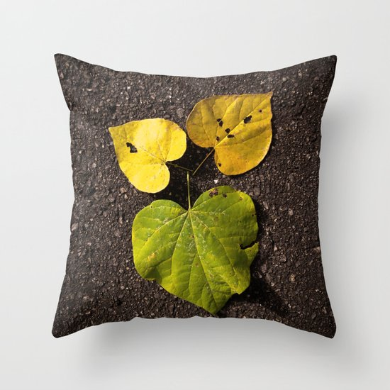Leaf Love No.2 Throw Pillow