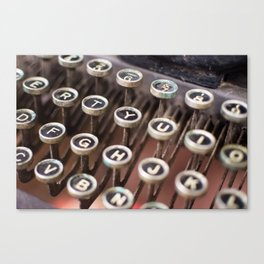 Antique typewriter keys Canvas Print
