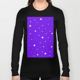 Scattered Stars on Modern Indigo Long Sleeve T-shirt