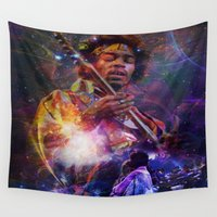 woodstock Wall Tapestries featuring Woodstock Kiss the Sky by ZiggyChristenson