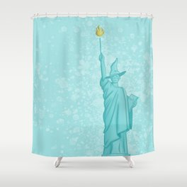Magical Lady Liberty Shower Curtain
