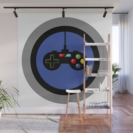 Game Controller in Blue Target Wall Mural