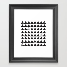 Black geometric print Framed Art Print