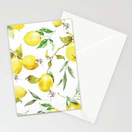 Watercolor lemons 8 Stationery Cards