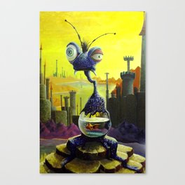 Fish Food Monster Canvas Print