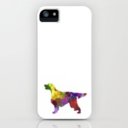 Gordon Setter in watercolor iPhone Case