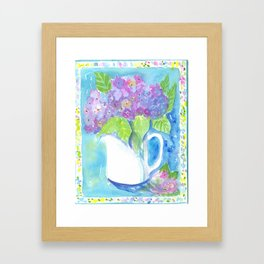 Be Bold Hydrangea Framed Art Print