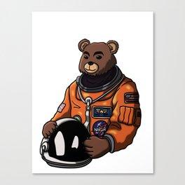 Space Bear Blank Canvas Print