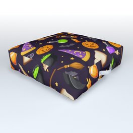 Wizard and Witch Pattern | Magic Sorcery Conjuring Outdoor Floor Cushion