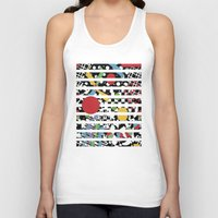 tape Tank Tops featuring Ticker Tape by Patricia Shea Designs