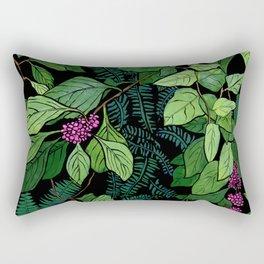 Green and Purple Beautyberry Illustration Rectangular Pillow