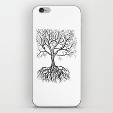Bare tree with root iPhone & iPod Skin