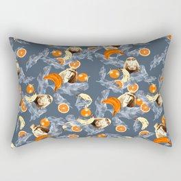 Gray Jungle Rectangular Pillow