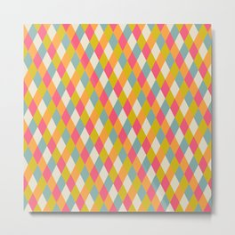 abstract seamless repeat pattern with rhombs Metal Print
