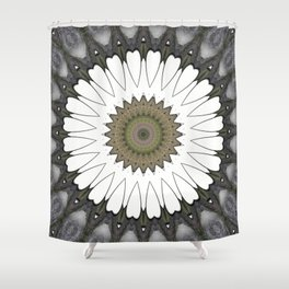 Mandala of everyday love with hearts and Cupid arrows Shower Curtain