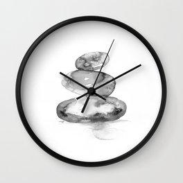 Meditation Stones No. 5E by Kathy Morton Stanion Wall Clock