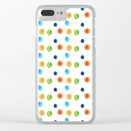 Color circles Clear iPhone Case