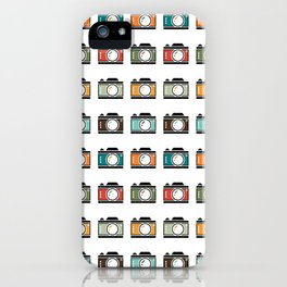 Colourful Camera Icons iPhone Case
