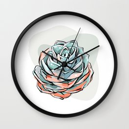 Succulent flower 1 Wall Clock