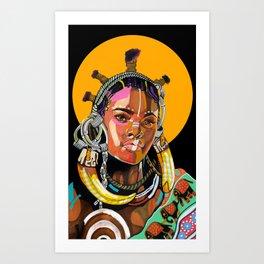 Queen is Black Art Print
