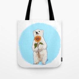 Romantic Bear Cub Tote Bag