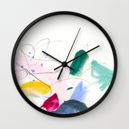 Colorful Marks Wall Clock