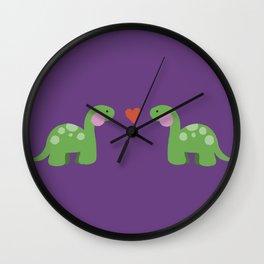 Jurassic Love Wall Clock