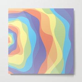 Ebb and Flow 4 - Pastel Rainbow waves Metal Print
