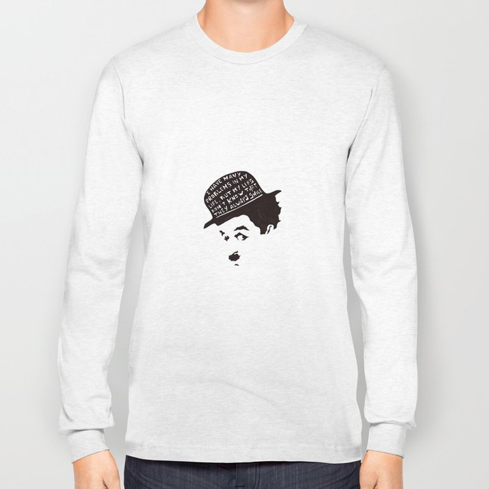 Charlie Chaplin Long Sleeve T-shirt