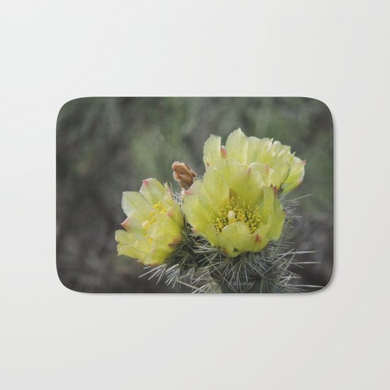 California Cactus Blooms Bath Mat