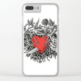 Heart of Thorns Clear iPhone Case