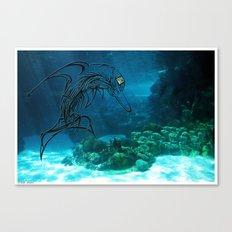 Tribal robot Dolphin :) Canvas Print