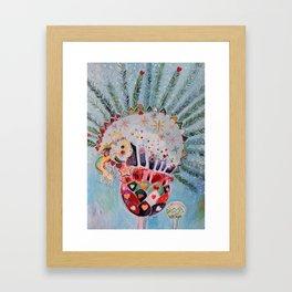 Xmas Guinea Pig Framed Art Print