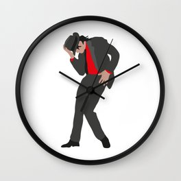M Jackson #4 Wall Clock